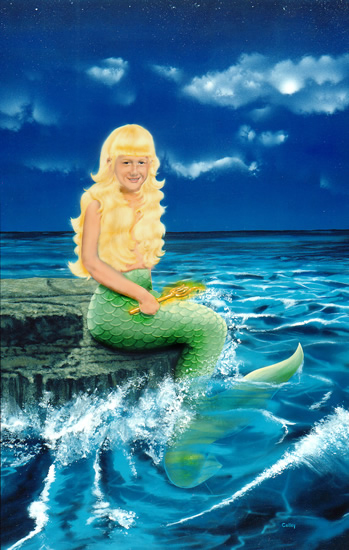Melisa told her dad she just wanted to be a mermaid.