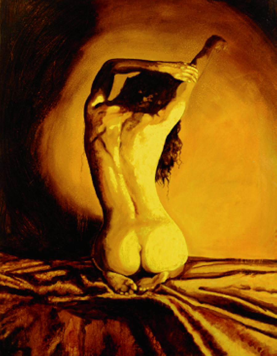 """Backlight 35""""x47"""" Oil on canvas 3,800.00 One of three"""