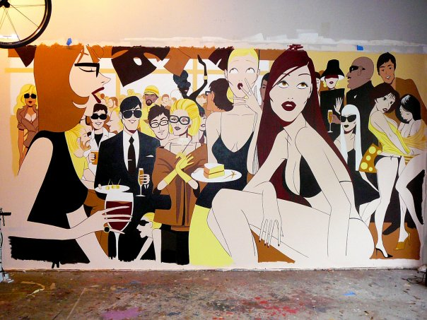 """The Party""  mural"